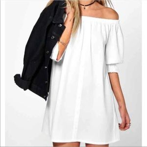 White off the shoulders dress